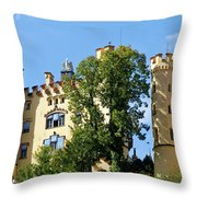Holenschwangau Castle 2 Throw Pillow