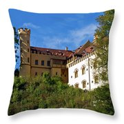 Holenschwangau Castle 3 Throw Pillow