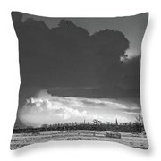 Holes In The Sky Throw Pillow