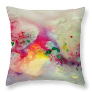 Holi-colorbubbles Abstract Throw Pillow