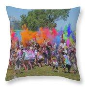 Holi Festival Throw Pillow
