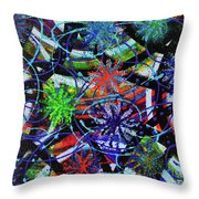 Holiday Abstract  Throw Pillow