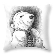 Holiday Bear Throw Pillow by Joe Winkler