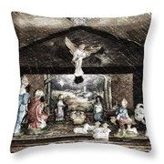 Holiday Christmas Manger Pa 01 Throw Pillow