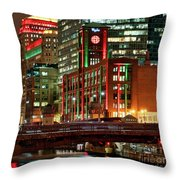 Holiday Colors Along Chicago River Throw Pillow