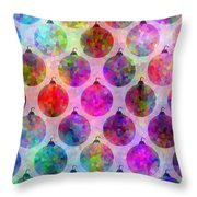 Holiday Colors - Christmas Pattern Throw Pillow