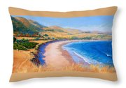 Holiday Crowd At Ranch House Throw Pillow