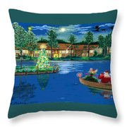 Holiday Delivery At Whisper Lake  Throw Pillow