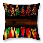 Holiday Evergreen Reflections Throw Pillow