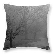 Holiday Fog Throw Pillow