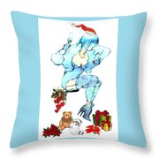 Holiday Girl - Holiday Cards Throw Pillow