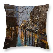 Holiday Glow Throw Pillow