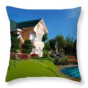 Holiday Home Throw Pillow