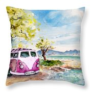 Holiday In Cala Ratjada Throw Pillow