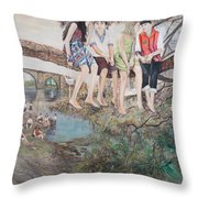Holiday In Galicia Throw Pillow