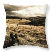 Holiday In Tasmania Throw Pillow