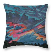 Holiday July Sunrise Throw Pillow