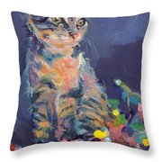 Holiday Lights Throw Pillow by Kimberly Santini