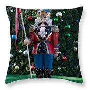 Holiday Nutcracker Throw Pillow