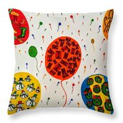 Holiday On Air Throw Pillow