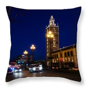 Holiday On The Plaza Throw Pillow