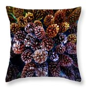 Holiday Pinecones #2 Throw Pillow