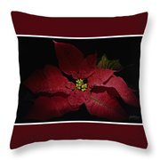 Holiday Poinsettia Throw Pillow