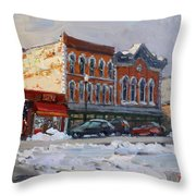 Holiday Shopping In Tonawanda Throw Pillow