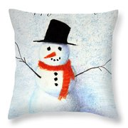 Holiday Snowman Throw Pillow