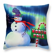 Holiday Top Hat Throw Pillow