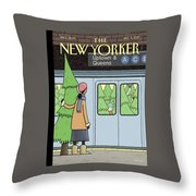 Holiday Track Throw Pillow