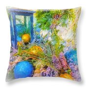 Holiday Vignette 2 Throw Pillow