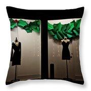 Holiday Window Fashion Throw Pillow