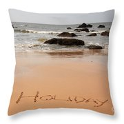 Holiday Written In The Sand Throw Pillow