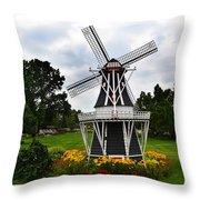 Holland Grey Windmill  Throw Pillow