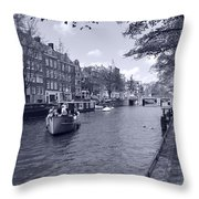 Hollanders On Canal  Throw Pillow