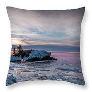 Hollow Rock Morning Throw Pillow
