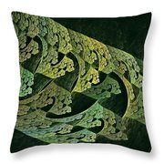 Hollow World W Forest Moon Throw Pillow