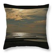 Holly Beach Sunset Throw Pillow