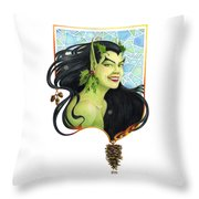 Holly Elf Throw Pillow