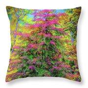 Holly Jolly Tree Throw Pillow
