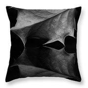 Holly Leaf Throw Pillow