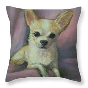 Holly The Chihuahua Throw Pillow