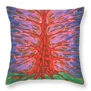 Holly Tree Throw Pillow