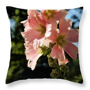 Hollyhocks 1 2017 Throw Pillow
