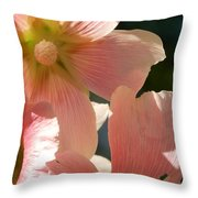 Hollyhocks 5 2017 Throw Pillow