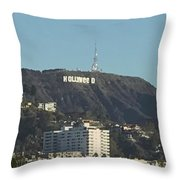 Hollyweed Sign Throw Pillow