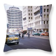 Hollywood And Vine California 1956 Throw Pillow