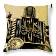 Hollywood And Vine Street Sign Collection Throw Pillow