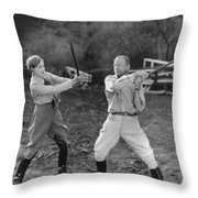 Hollywood Battles Throw Pillow